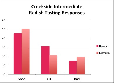 Creekside Radish Data