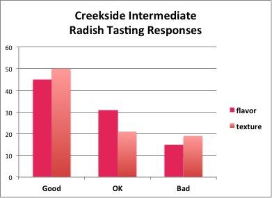 Creekside Radish Data