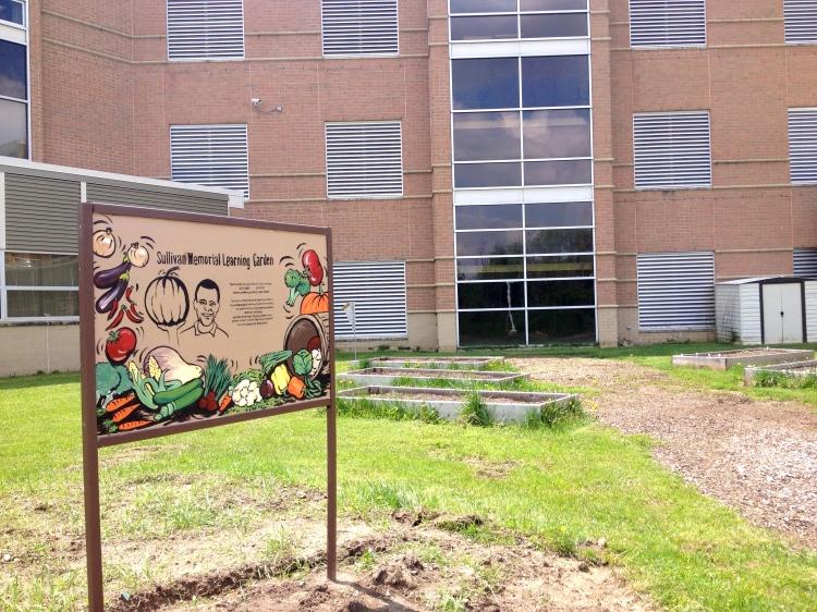 Sullivan Memorial Learning Garden's new sign!