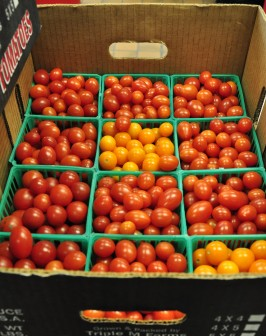 Cherry and grape tomatoes from Ruhlig's Produce in the Creekside kitchen!