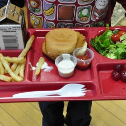 Student plate at Bates