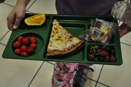 Wylie student lunch with local cherry tomatoes.