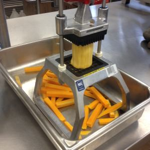 Choppers in the school kitchens made butternut squash prep a breeze!