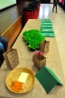 Farmer Vicki brought seeds and lettuce seedlings for students to see and taste.