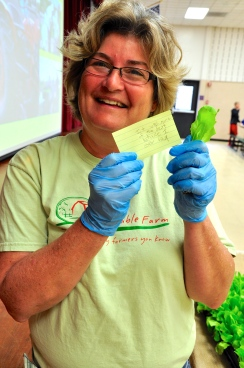 Farmer Vicki proud of the students' responses!